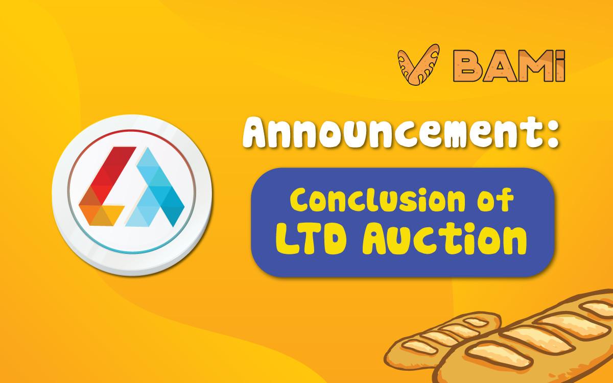 Thông báo kết thúc đấu giá token LTD