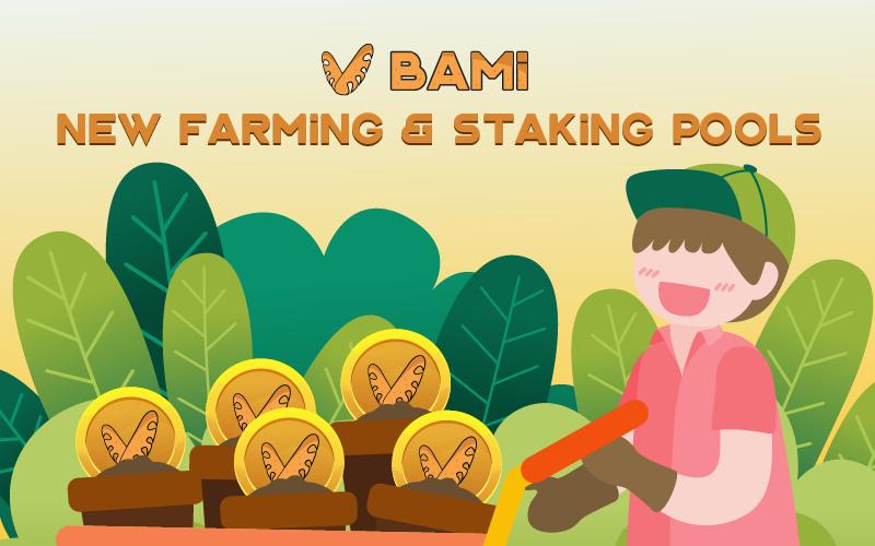 Thông báo: Mở farming và staking pool mới